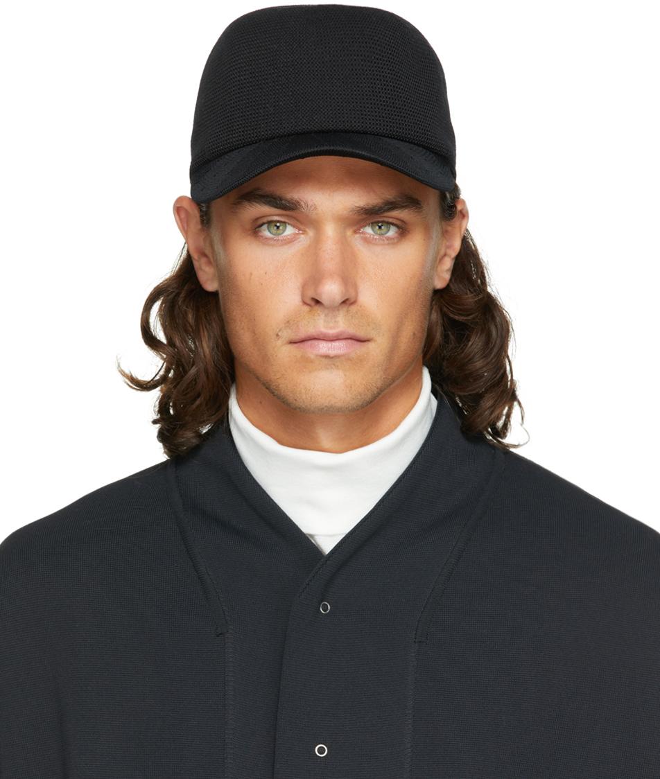 Black Mesh Knit Cap