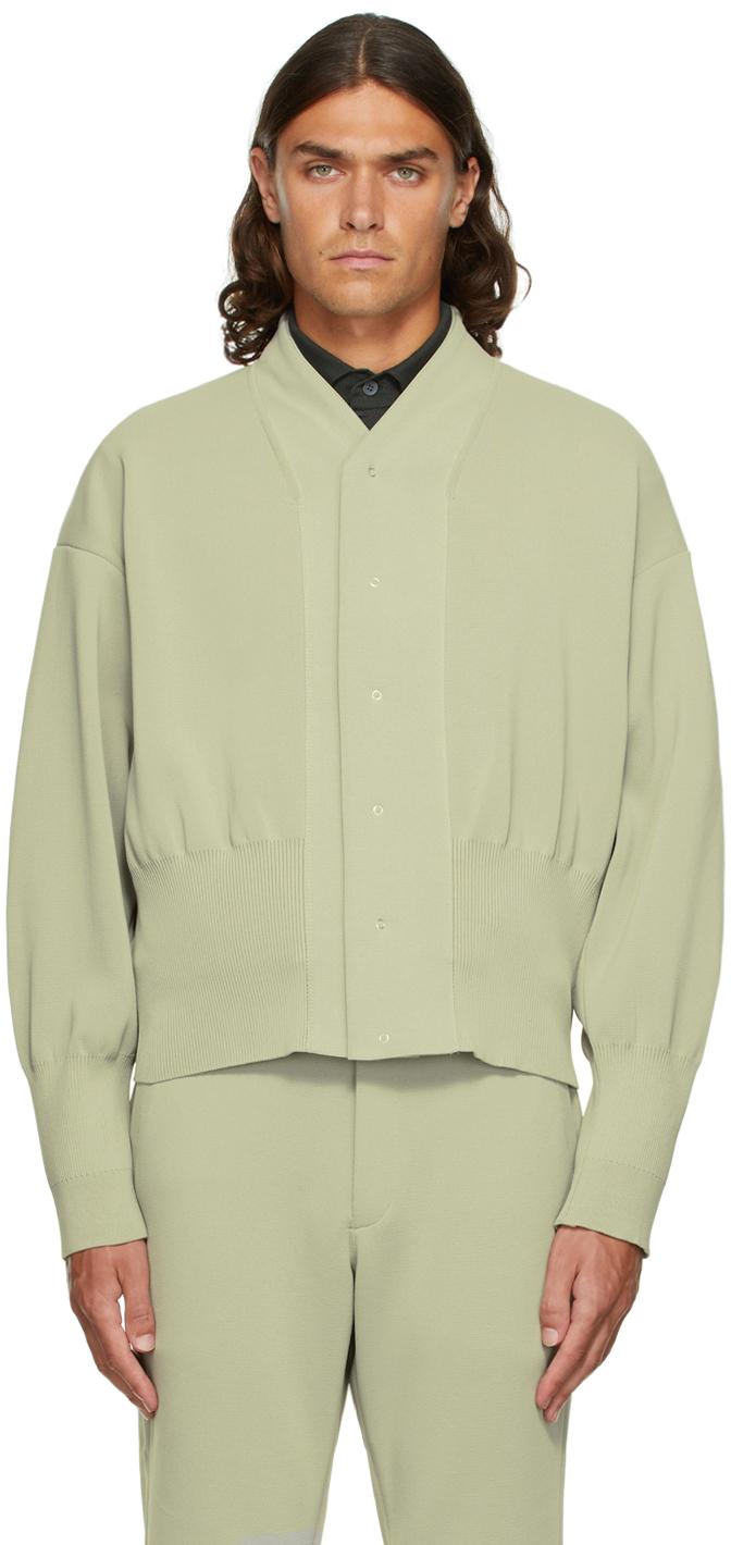 Beige Milan Rib Flight Jacket