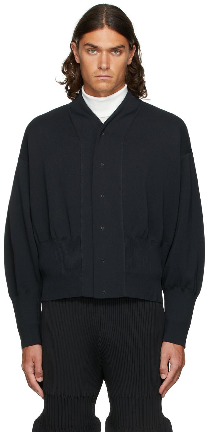 Black Milan Rib Flight Jacket