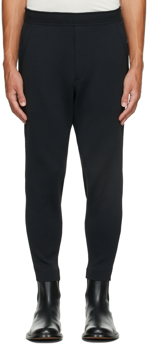 Black Milan Rib Jodhpurs Trousers