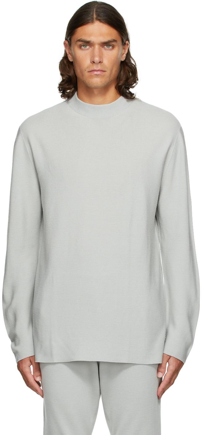 Grey Garter Sweater