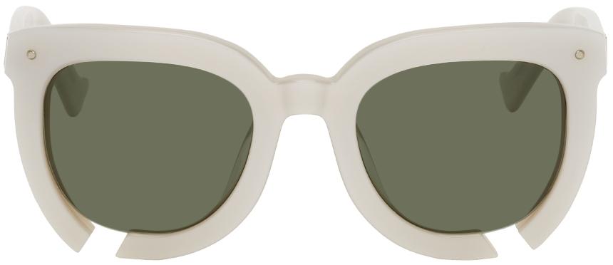 White Incidental Habit Sunglasses