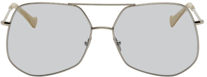 Silver Mesh Sunglasses