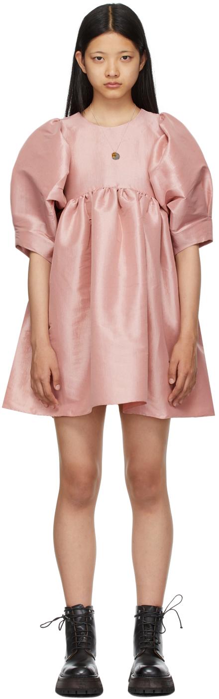 SSENSE Exclusive Pink Taffeta Mathilde Dress