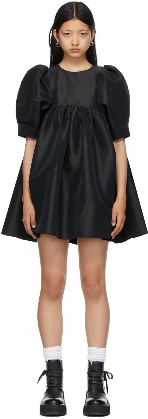 Black Taffeta Mathilde Dress