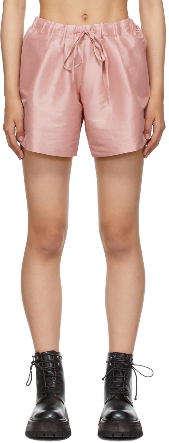 Pink Taffeta Ela Shorts
