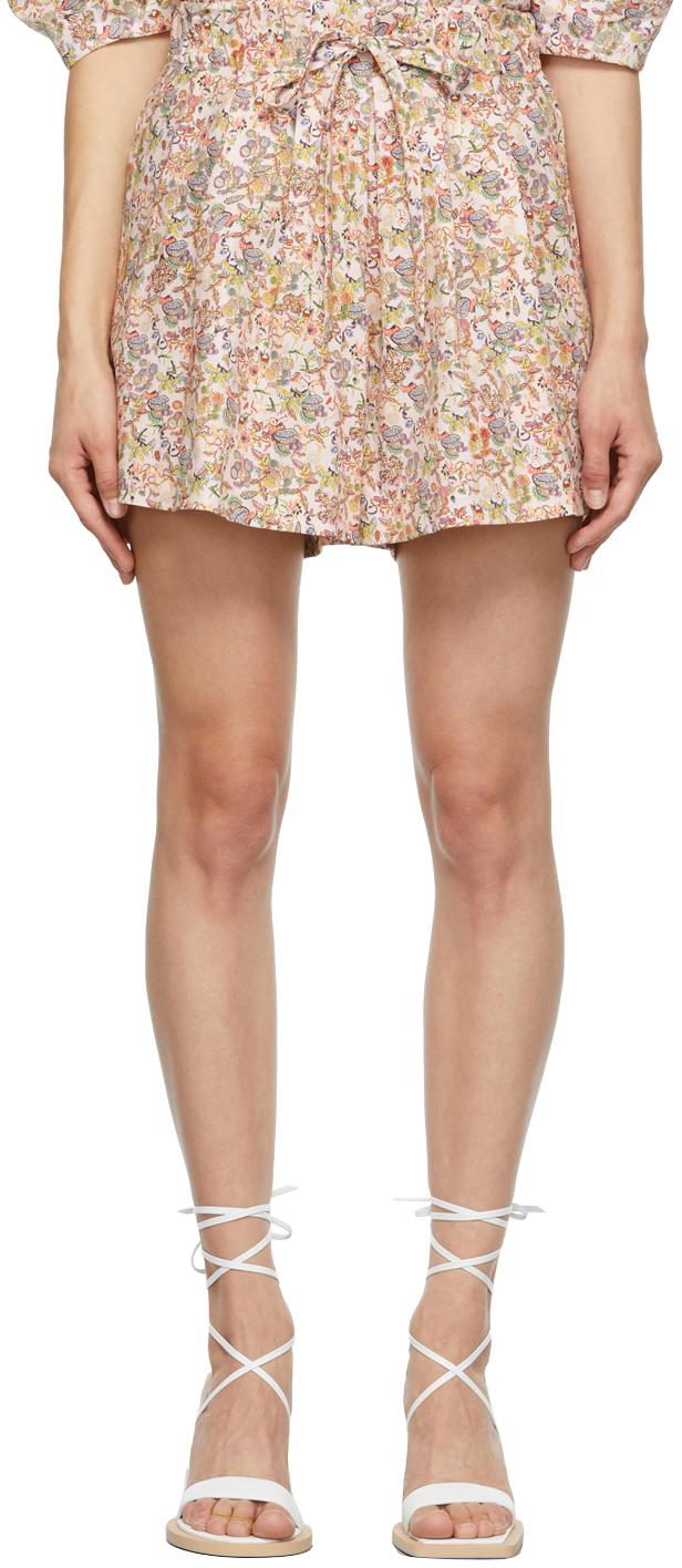 SSENSE Exclusive Pink Floral Ela Shorts