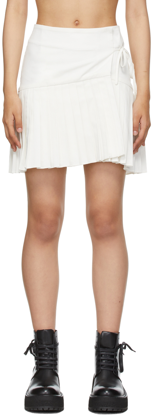 White Regina Wrap Skirt