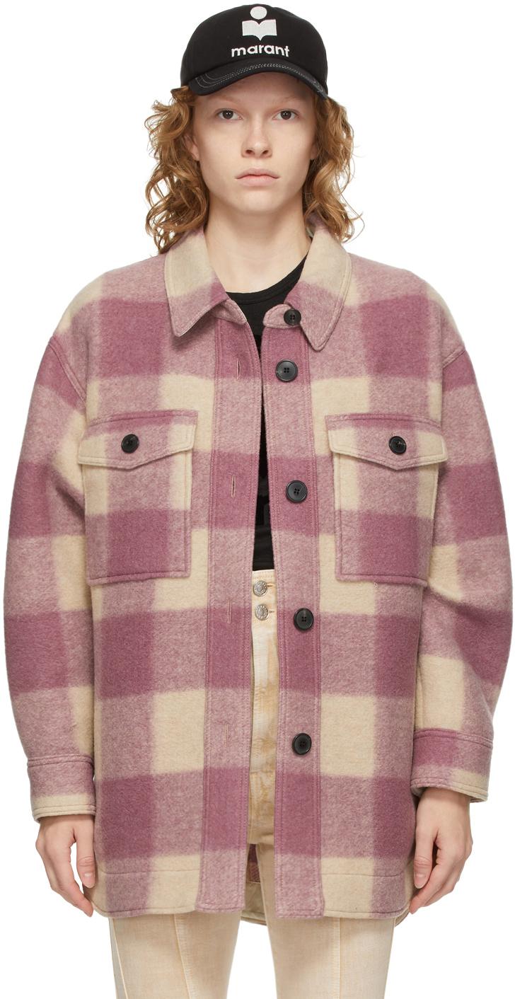 Isabel Marant Etoile Beige & Pink Check Harveli Jacket