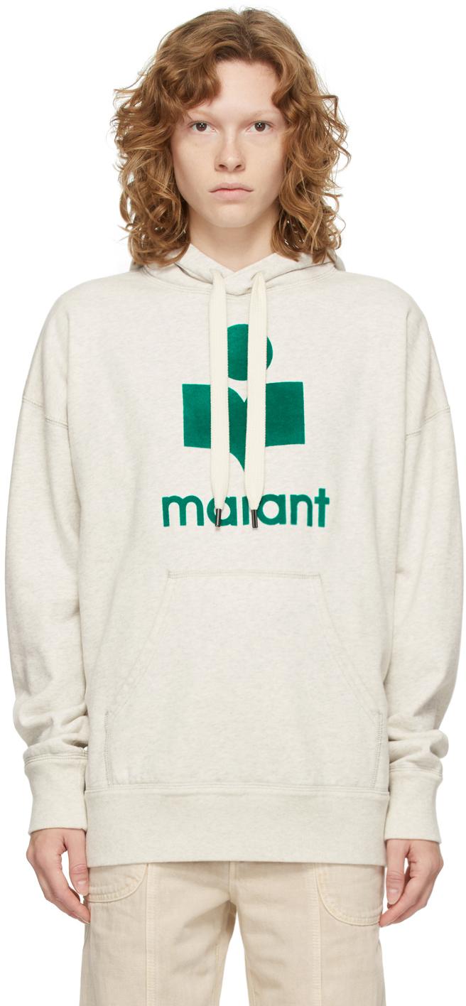 Isabel Marant Etoile Off-White & Green Mansel Hoodie