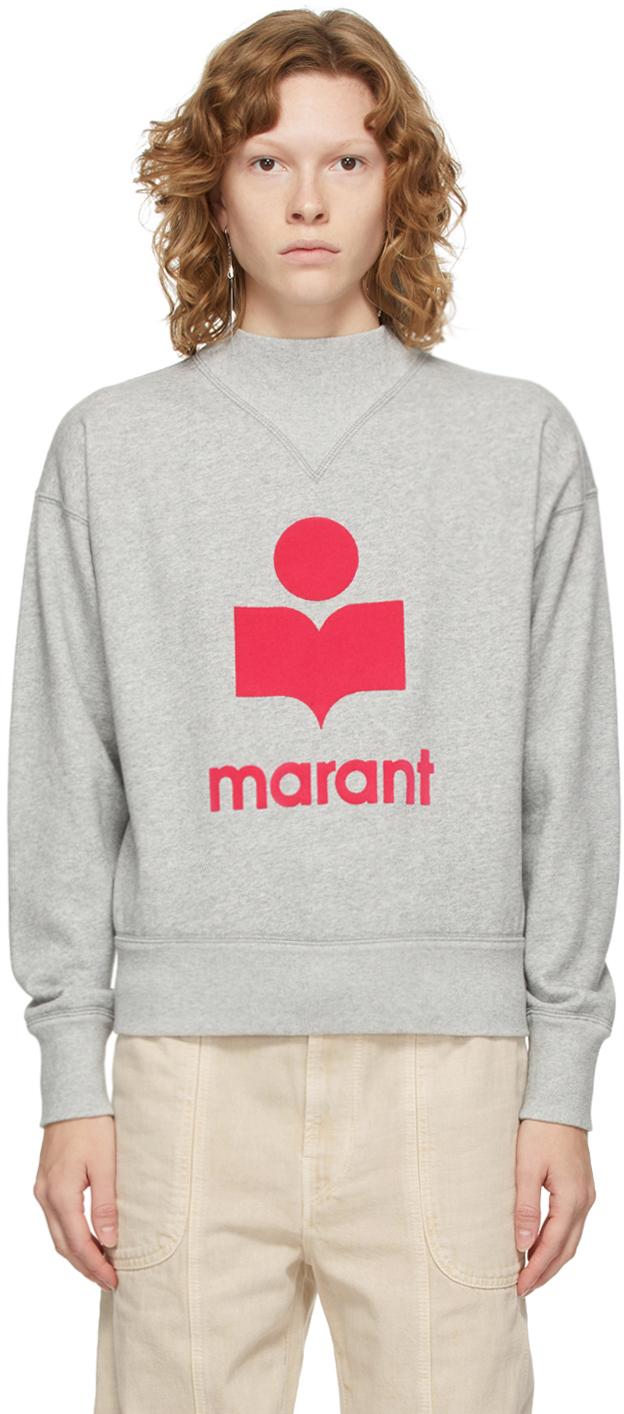 Isabel Marant Etoile Grey Mock Neck Moby Sweatshirt