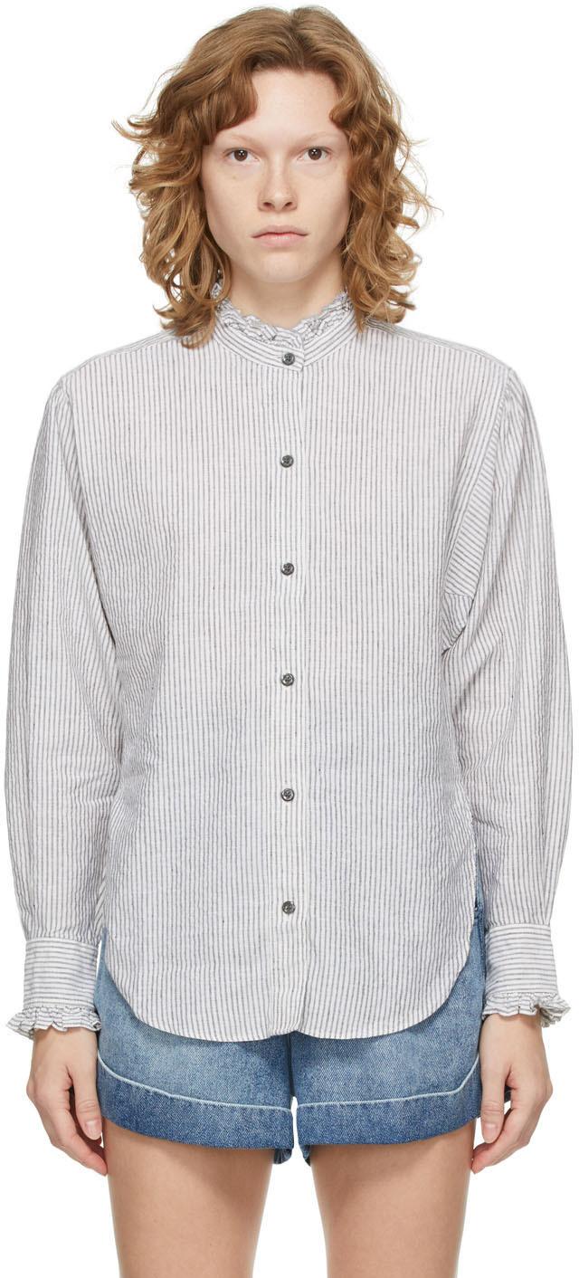 Isabel Marant Etoile Black & White Striped Saoli Shirt