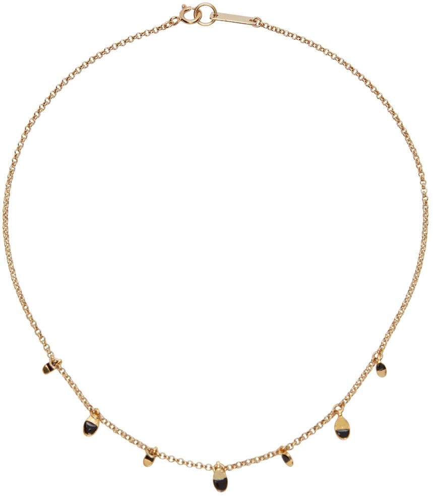 Gold & Black Casablanca Beaded Choker Necklace