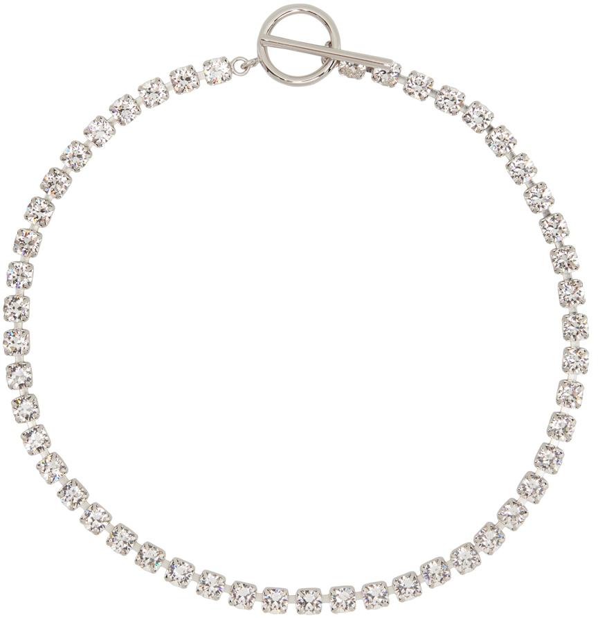 Silver Melting Choker Necklace