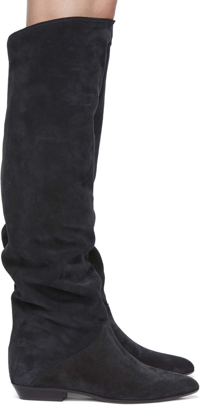 Black Suede Seelys Boots