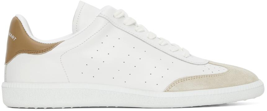 White & Beige Bryce Sneakers