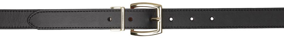 Reversible Black & Red Leather Belt