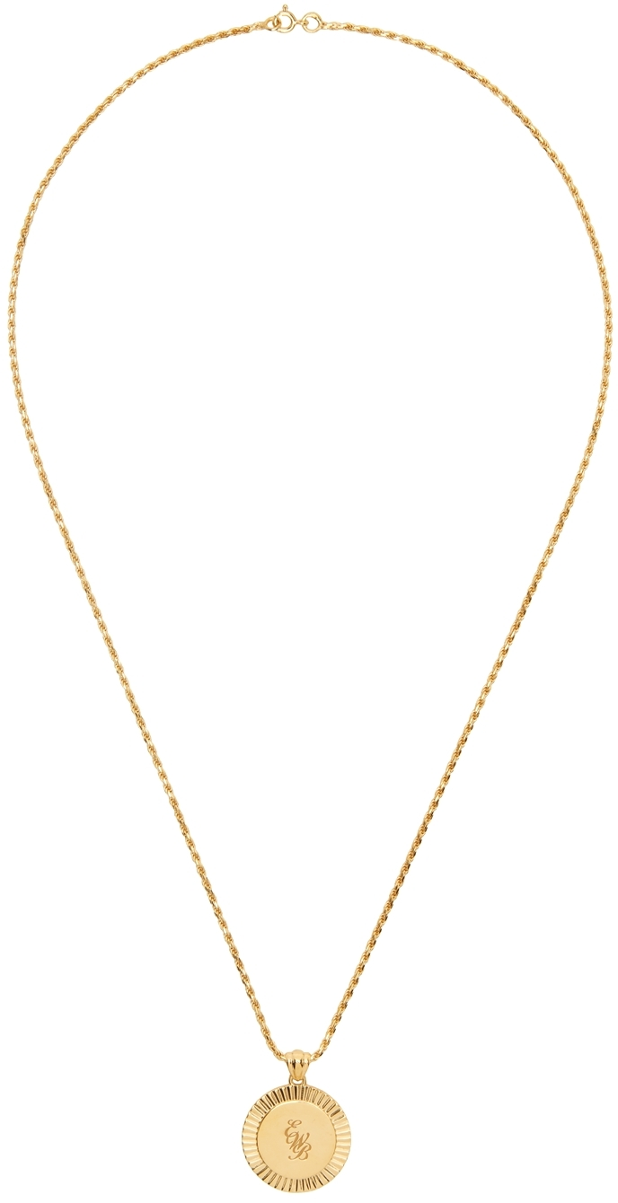 Gold EWB Engraved Necklace
