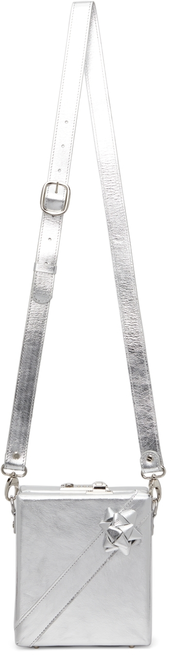 Silver Present Messenger Bag
