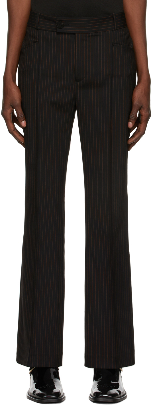 Black & Orange Pinstripe Trousers