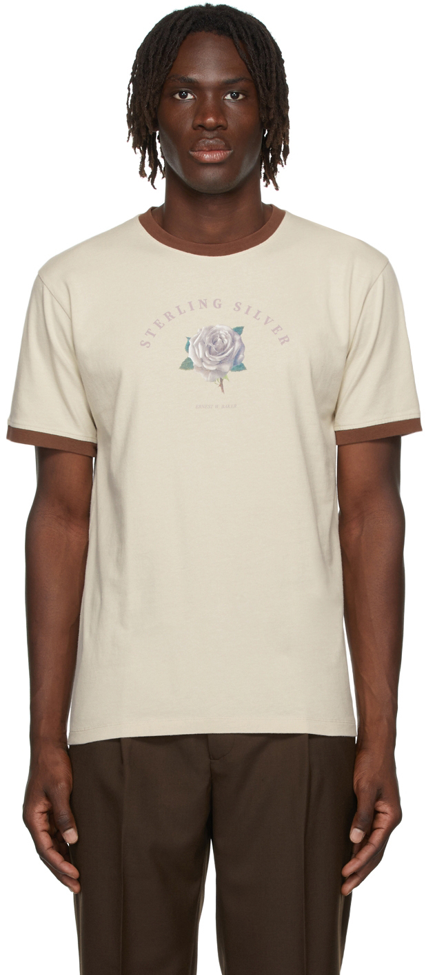 Beige Organic 'Sterling Silver' T-Shirt