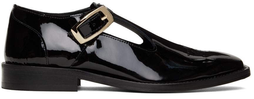 Black T-Bar Shoes