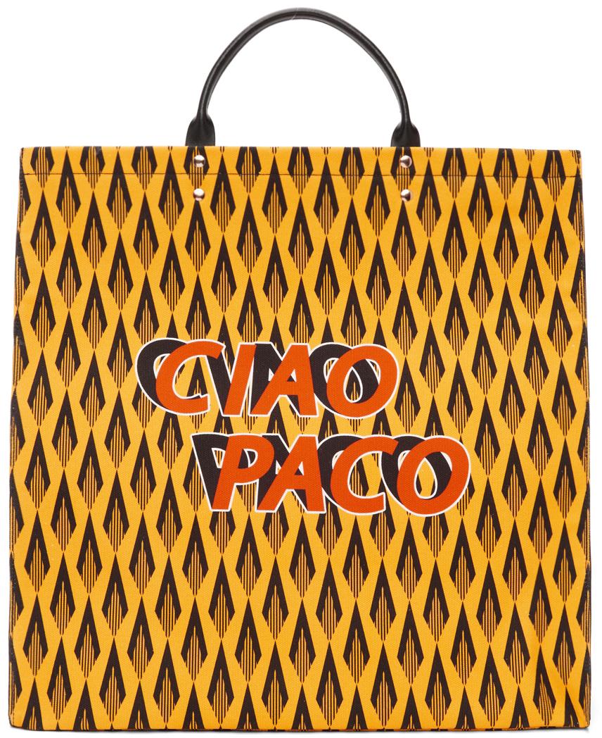 Yellow 'Ciao Paco' Tote