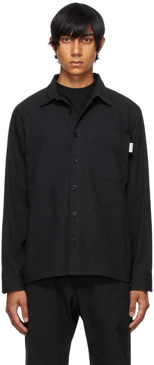 Black Studio Work Shirt Jacket
