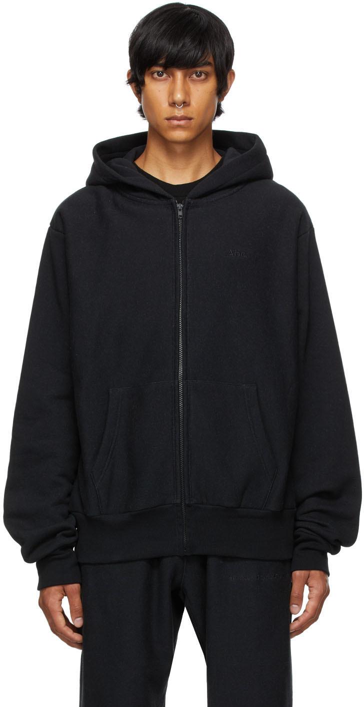 Black 123 Zip-Up Hoodie