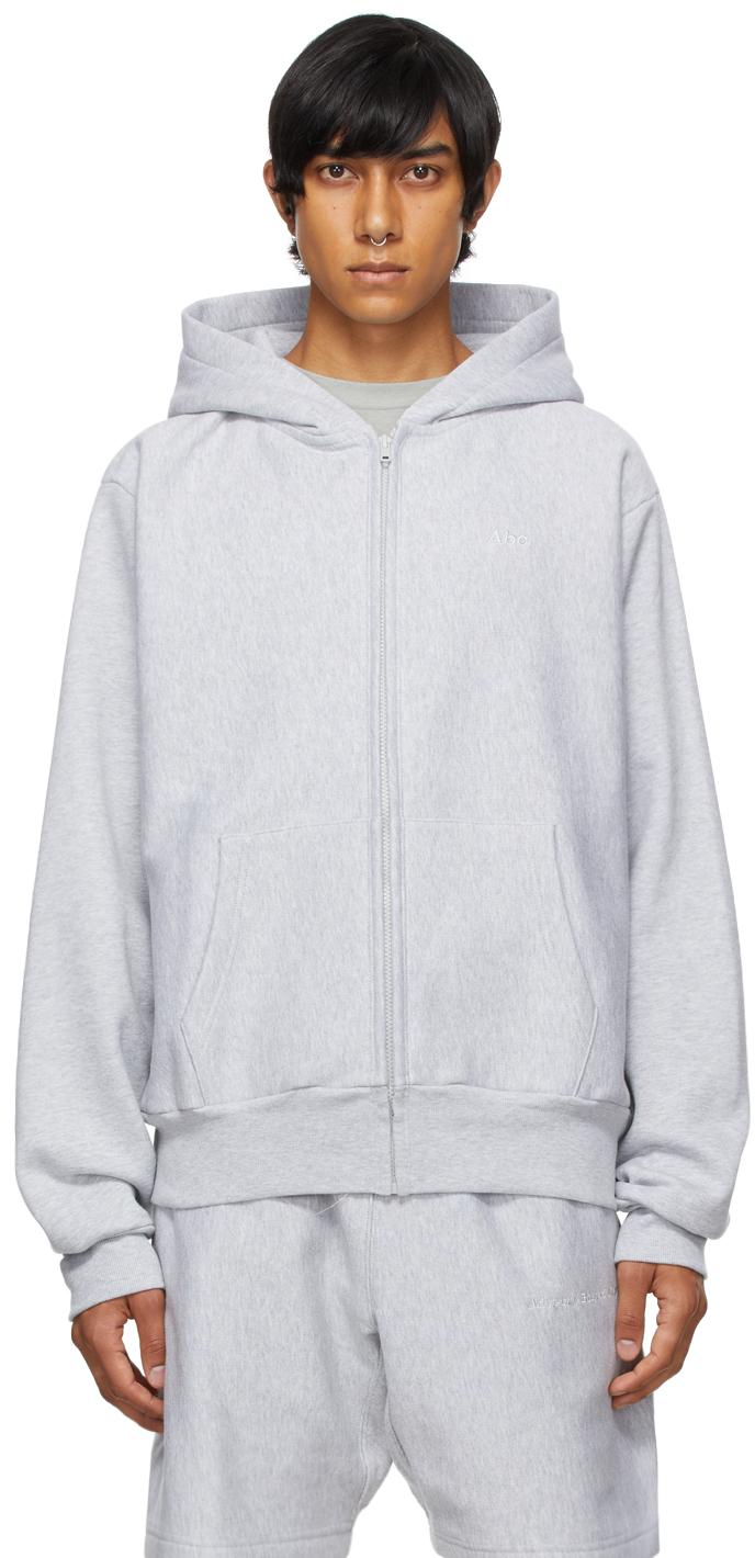 Grey 123 Zip-Up Hoodie