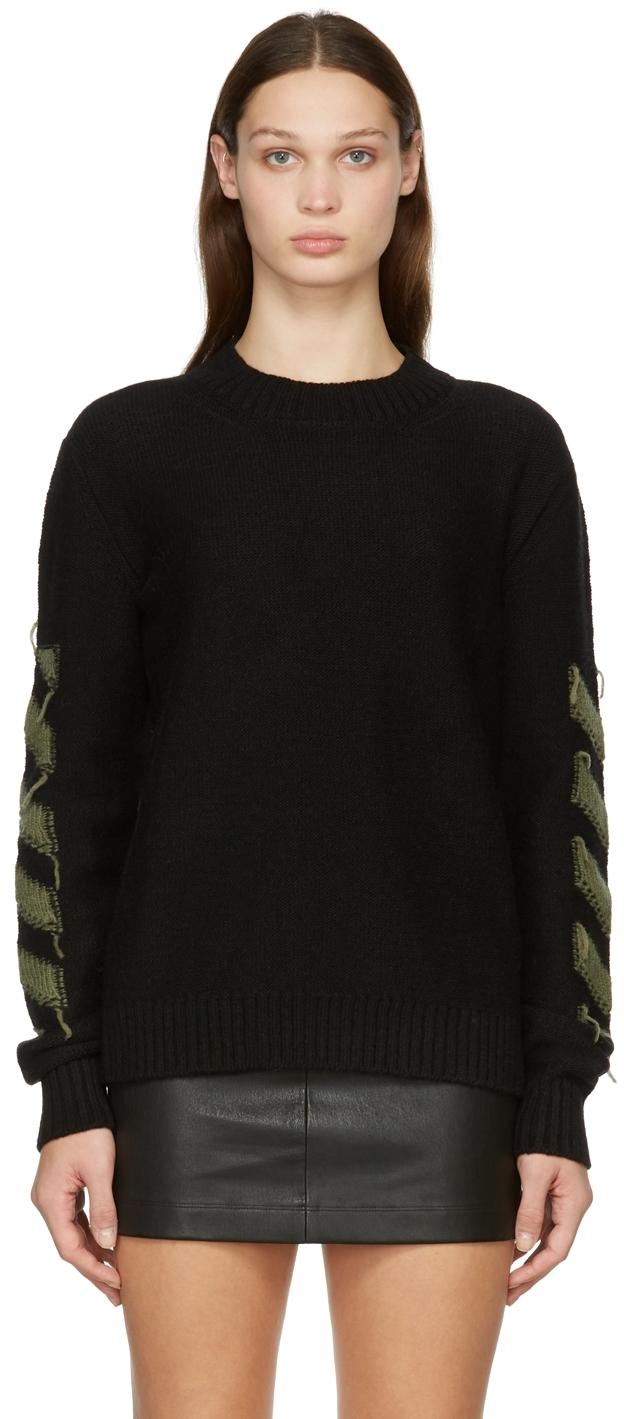 Black Reverse Arrow Sweater