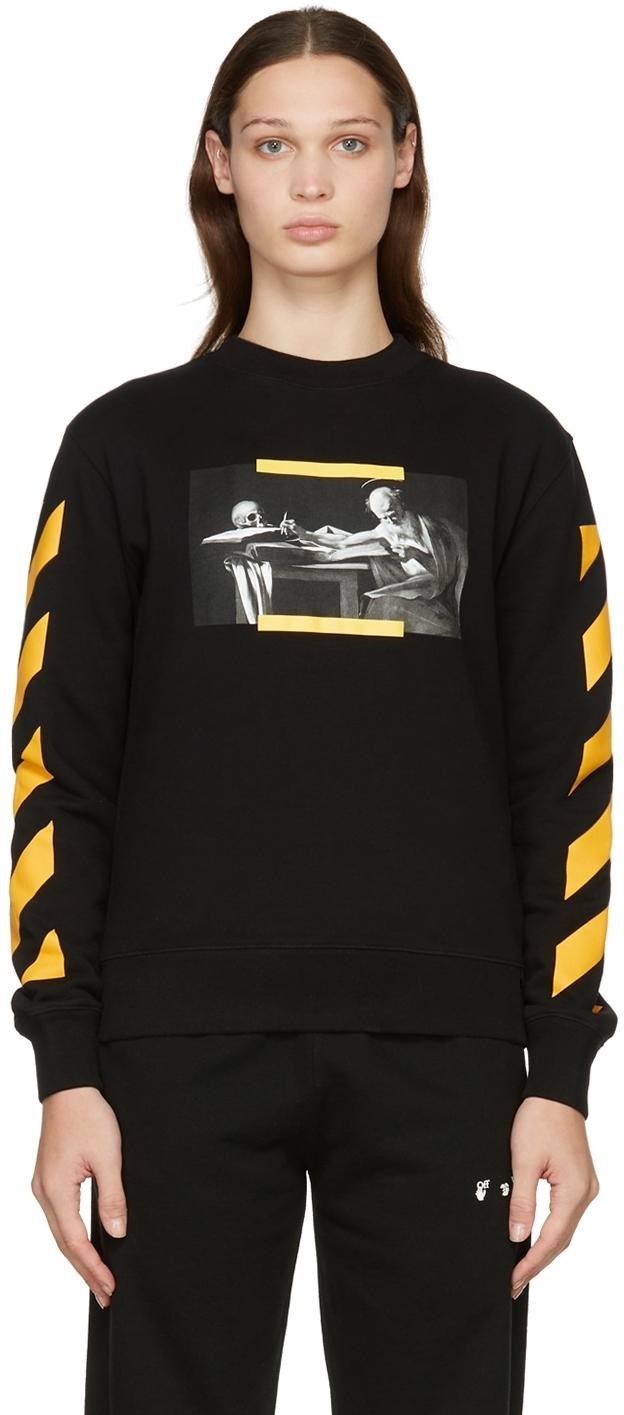 Black Carav Painting Slim Sweater