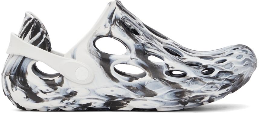 White & Black Hydro Moc Sandals
