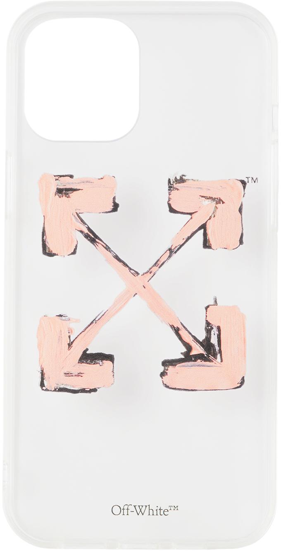 Transparent & Pink Arrows iPhone 12 Pro Max Case