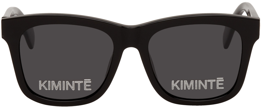 Black Two Logo Sunglasses