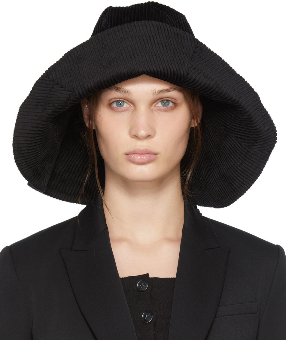 Black Corduroy Anna Hat