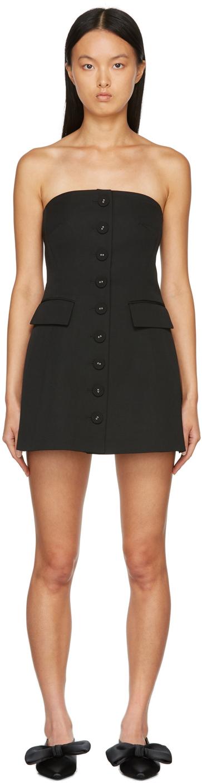 Black Corduroy Mini Dress