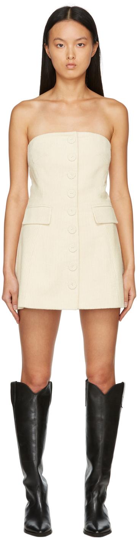 Off-White Corduroy Mini Dress