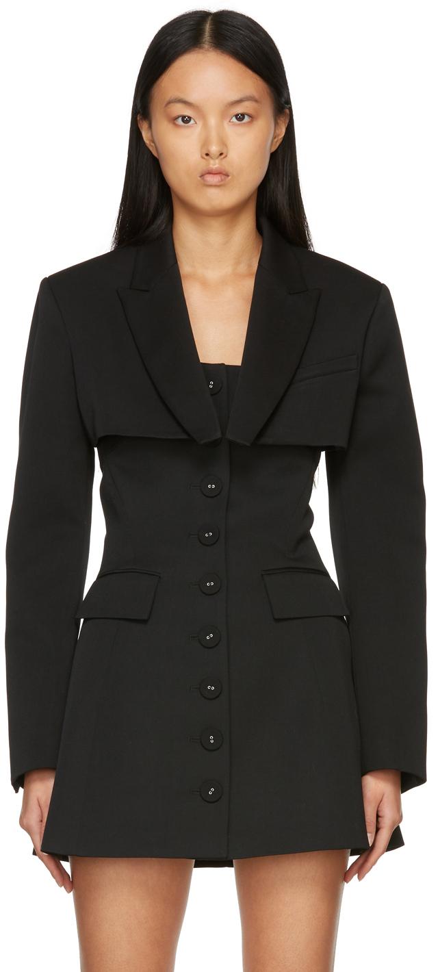 Black Emma Cropped Jacket