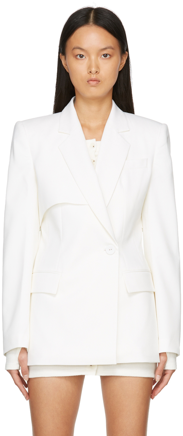 Off-White Double Layered Sleeved Blazer