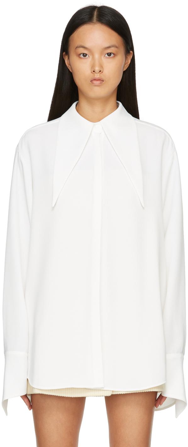 Off-White Crepe Elf Shirt