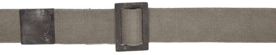 Grey Cotton Resin Dyed Belt