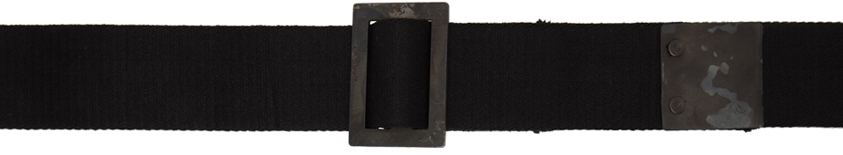 Black Cotton Resin Dyed Belt