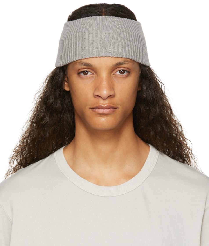 Grey Cashmere Rib Knit Headband