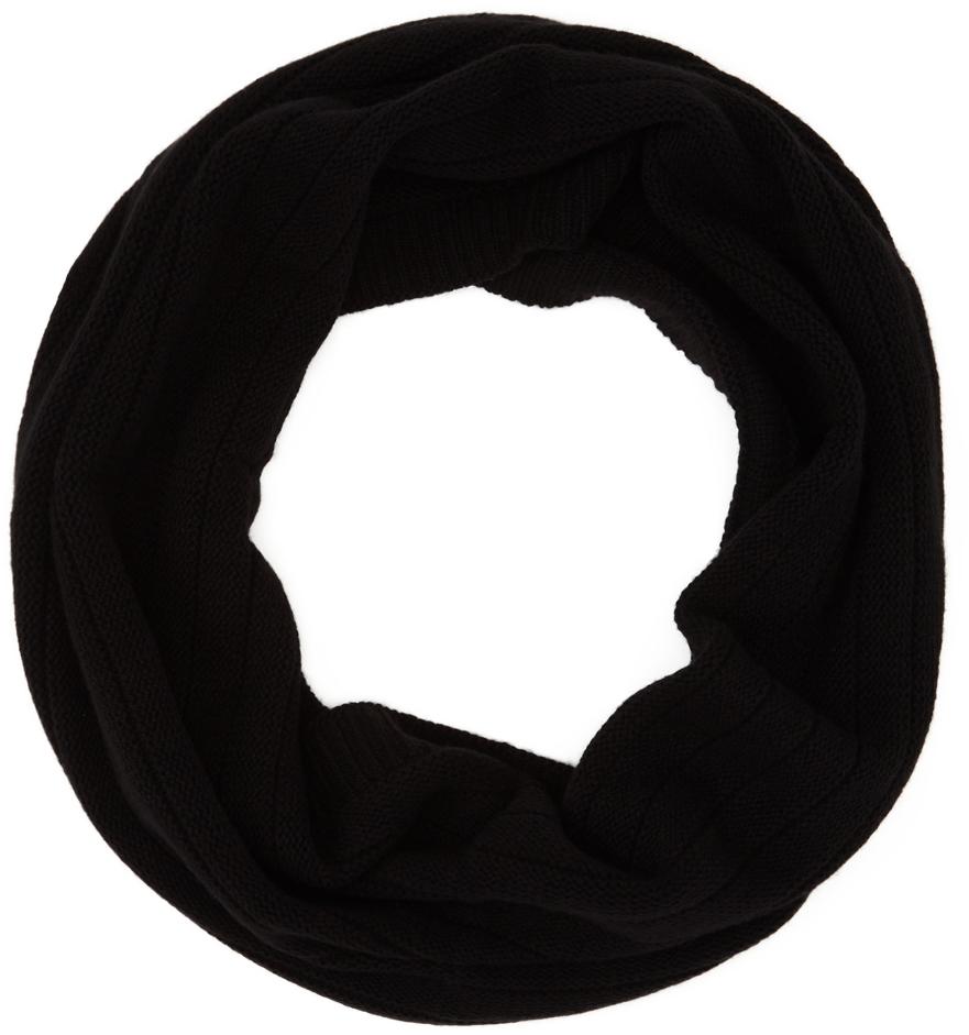 Black Cashmere 3D knit Scarf