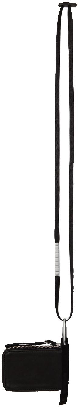 Black Leather Zip-Around Wallet