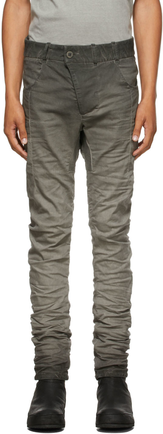 Grey Resin-Dyed P13 Jeans