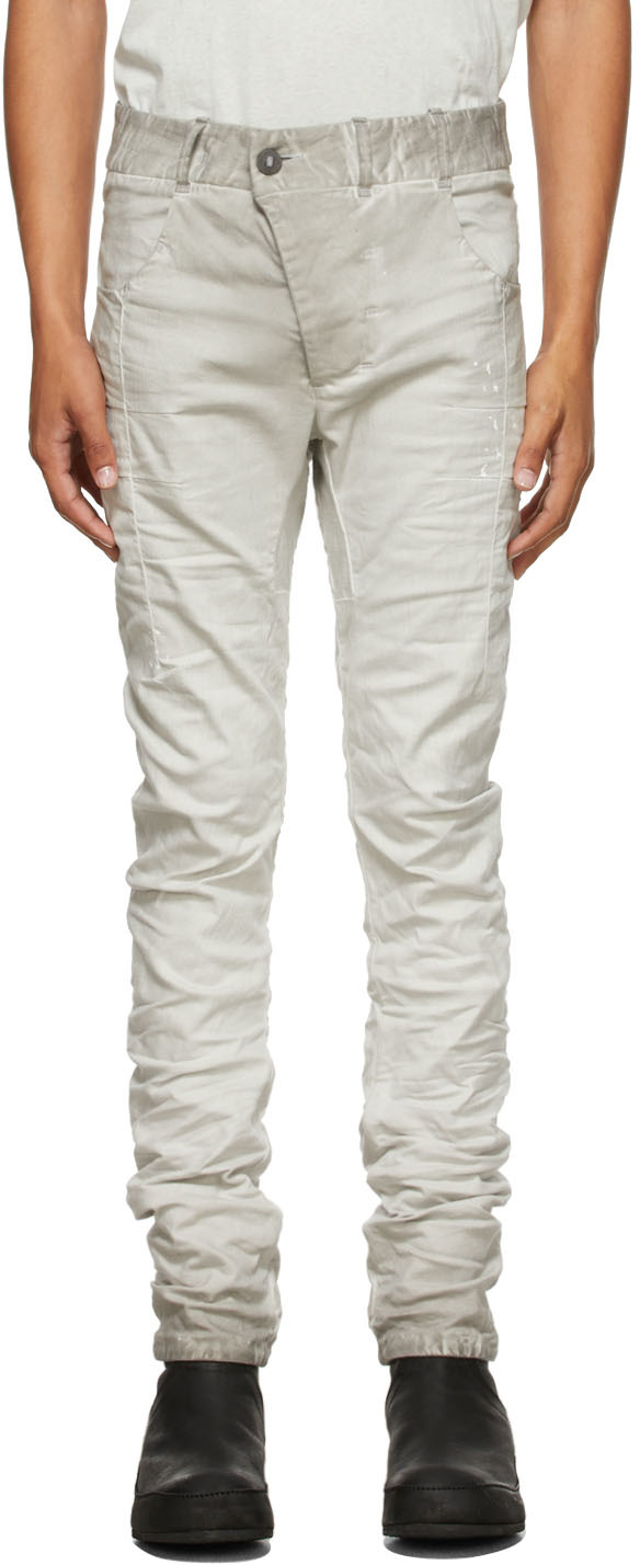 Grey Painted P13 Jeans