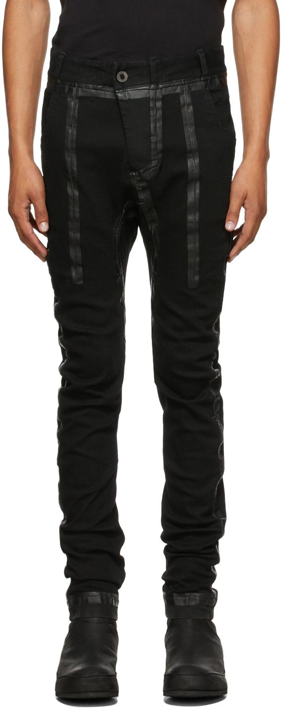 Black P14 Seam Taped Jeans