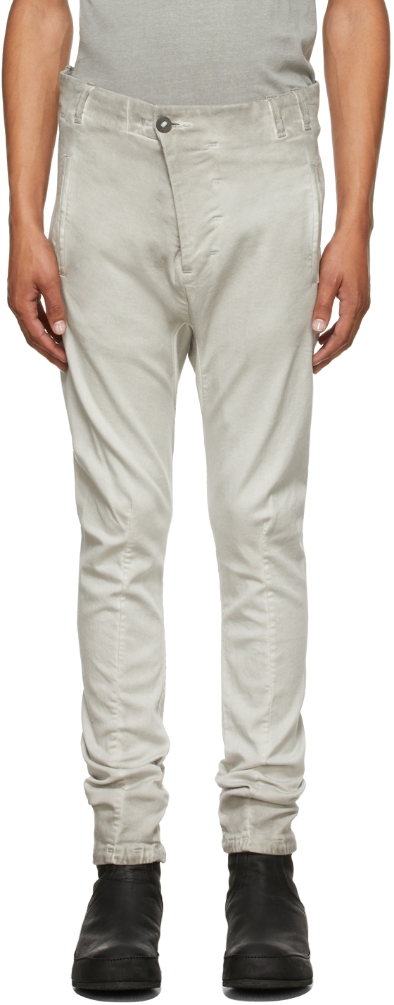 Grey Resin-Dyed P11 Trousers
